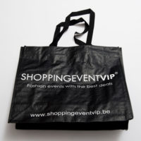 shopping bag black invite a friend