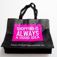 shopping bag fuchsia invite a friend