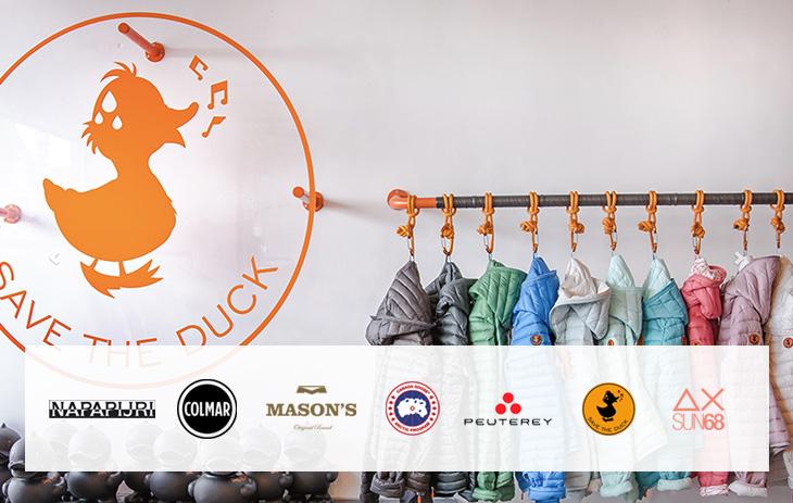 Mason's, Napapijri, Save the Duck,…