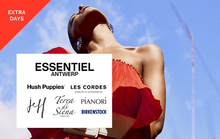 Essentiel Antwerp, Hush Puppies, Les Cordes, Pianori, Terra di Siena, Birkenstock, JEFF (Extra Days)